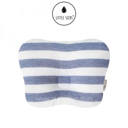 หมอนหัวทุย Little Seeds Newborn Pillow - Blue Stripe