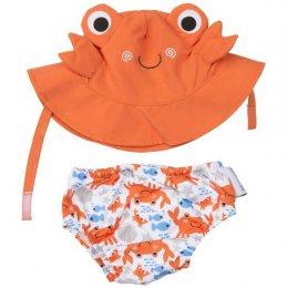 กางเกงผ้าอ้อมว่ายน้ำ+หมวกกันแดด Zoocchini  - Crab