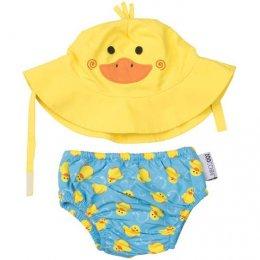 กางเกงผ้าอ้อมว่ายน้ำ+หมวกกันแดด Zoocchini  - Duck