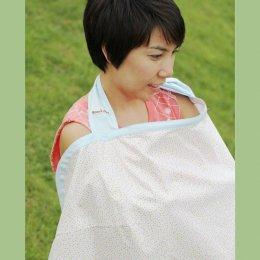 ผ้าคลุมให้นม Beanie Nap Nursing cover ลาย Blue Fluffy