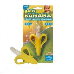 แปรงสีฟันสำหรับนวดเหงือกรูปกล้วย สำหรับเด็ก 0-12 เดือน
