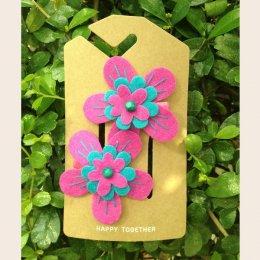 Sati กิ๊บติดผมเด็กหญิง Hairclip - LRR Flower summer / Pink