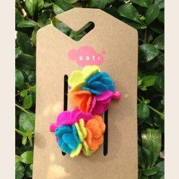 Sati กิ๊บติดผมเด็กหญิง Hairclip - LRR Flower Mix Fuu