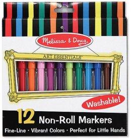 ของเล่นเด็ก มาร์กเกอร์ปลอดสารพิษ Non toxic Washable 12 สี