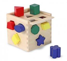 ของเล่นเด็ก มาลิซซ่าแอนด์ดัก บล๊อคหยอดไม้ เรียนรู้รูปร่าง 12 ชิ้น