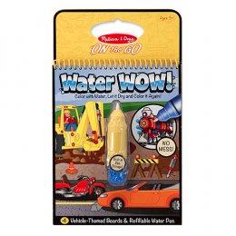 ของเล่นเด็ก สมุดชุดระบายสีด้วยน้ำ รียูสซาเบิล พร้อมปากกา-รูปยานพาหนะ