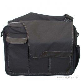 Diaper Dude กระเป๋าผ้าอ้อมลูก ใส่ของเด็ก รุ่น Messenger II - Black