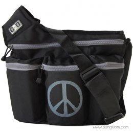 Diaper Dude กระเป๋าผ้าอ้อมลูก ใส่ของเด็ก รุ่น Messenger I - Black Peace