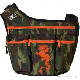 Diaper Dude กระเป๋าผ้าอ้อมลูก ใส่ของเด็ก รุ่น Messenger I - Camo Dragon