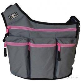 Diaper Dude กระเป๋าผ้าอ้อมลูก ใส่ของเด็ก รุ่น Messenger I - Grey / Pink