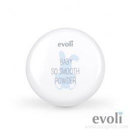Evoli Baby So Smooth Powder แป้งเด็กอัดแข็ง+ซอฟท์ พัฟ