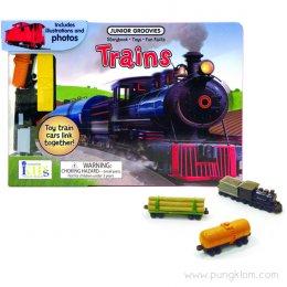 หนังสือ พร้อมของเล่นประกอบการเรียนรู้ Junior Groovies - Trains