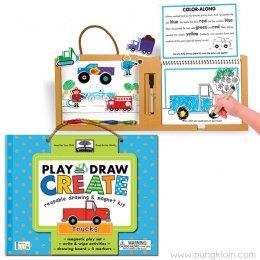 ชุดวาดรูป ระบายสี Play Draw Create - Trucks