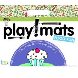 แผ่นฝึกวาดรูป ระบายสี สำหรับเด็ก Playmats - Food Fun