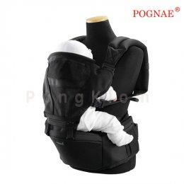 เป้อุ้มเด็กแบบที่นั่งคาดเอว Pognae รุ่น Hipseat 3 in 1 สีดำ