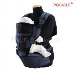เป้อุ้มเด็กแบบที่นั่งคาดเอว Pognae รุ่น Hipseat 3 in 1 สียีนส์