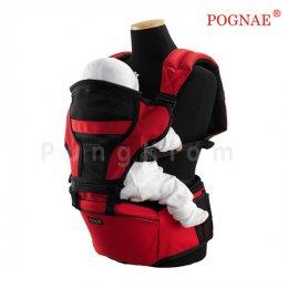 เป้อุ้มเด็กแบบที่นั่งคาดเอว Pognae รุ่น Hipseat 3 in 1 สีแดง