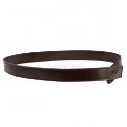 Myselfbelts Brown Leather เข็มขัดเด็กเล็กให้เด็กฝึกถอด-ใส่เอง