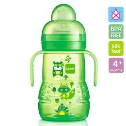 MAM ถ้วยหัดดื่ม-จุกกันสำลัก BPAfree พร้อมมือจับ 8 oz (220ml)