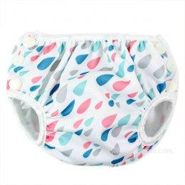 กางเกงผ้าอ้อมว่ายน้ำเด็กเล็ก Bumkins - Raindrops