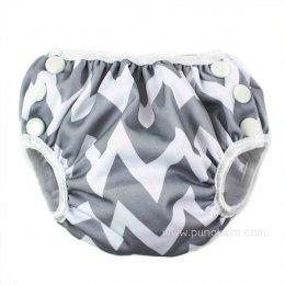 กางเกงผ้าอ้อมว่ายน้ำเด็กเล็ก Bumkins Size S - Gray Chevron