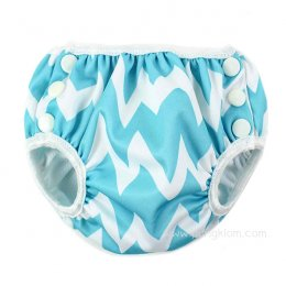 กางเกงผ้าอ้อมว่ายน้ำเด็กเล็ก Bumkins Size S - Blue Chevron