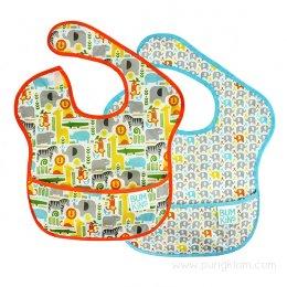 Bumkins Super Bib ผ้ากันเปื้อนเด็ก 6-24 เดือน (แพค 2 ชิ้น)