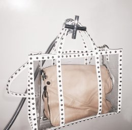 Transparency Studded Bag