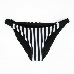 BIKINI BOTTOM SEAMLESS & REVERSIBLE WHITESTRIPED &PLAIN BLACK