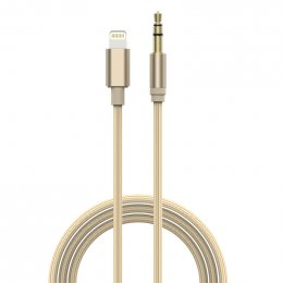 Devia GRACIOUS LIGHTNING TO AUX 3.5MM CABLE (Gold)