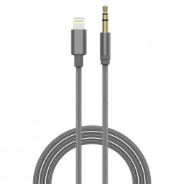 Devia GRACIOUS LIGHTNING TO AUX 3.5MM CABLE (Grey)