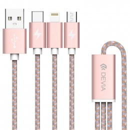 Devia Vogue 3 in 1 Lightning Cable&Android&Type C (Orange)