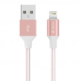 Devia Gracious CABLE For Apple IOS 7&8&9 (Rose Gold)