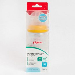 Pigeon Wide-Neck Feeding Baby Bottle Nipple Size SS BPA Free 8Oz