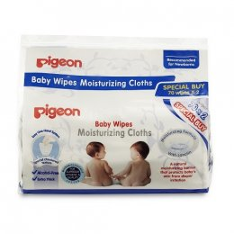 Pigeon Baby Wipes Moisturizing Cloths (2x70s)