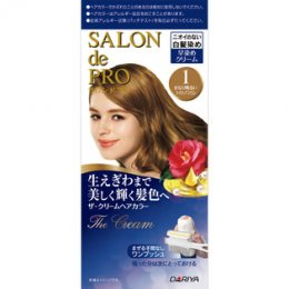 DARIYA SALON DE PRO THE CREAM HAIR COLOR #1 [BRIGHTEST BROWN]