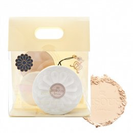 Bisous Bisous White Posy Whitening Powder Pact SPF27 PA++  #1 Beige set