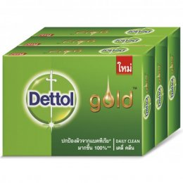 DETTOL GOLD SOAP DAILY CLEAN 65 G PACK 3