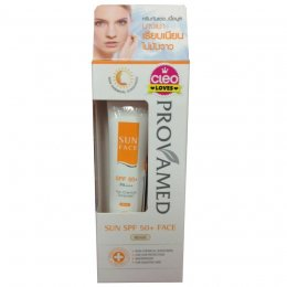 ProvaMed Sun Face Sunscreen SPF 50+ PA+++ White Non Chemical #BEIGE 30 ml.