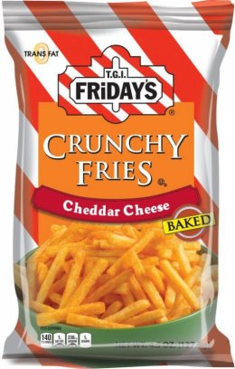 T.I.G. FRIDAY'S crunchy fries cheddar cheese 127.8 g.
