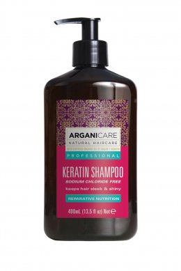 Arganicare Keratin Shampoo For All Hair Types Sodium Chloride Free 400 ml.