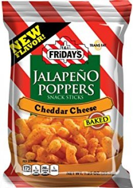 T.I.G. FRIDAY'S jalapeno poppers cheddar cheese 99.4 g.
