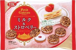 YBC Petit gateau milk & strawberry 10 pcs.