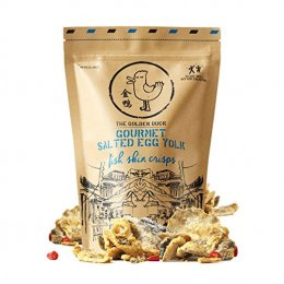 THE GOLDEN DUCK GOURMET SALTED EGG YOLK FISH SKIN CRISPS CHIPS 125g