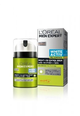 L'OREAL PARIS MEN EXPERT WHITE ACTIV BRIGHT + OIL CONTROL MOISTURISER