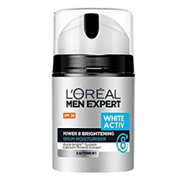 L'OREAL PARIS MEN EXPERT WHITE ACTIV POWER 8 BRIGHTENING SERUM MOISTURISER SPF26