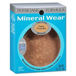 physicians formula mineral wear talc-free mineral  pressed powder spf 16 / bronzer