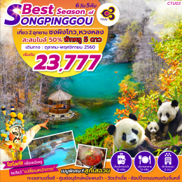 ทัวร์จีน BEST SEASON OF SONGPINGGOU 6D 5N TG