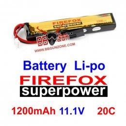 FireFox 11.1V 1200mAh 20C Li-po
