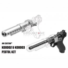 """AW Custom Built Luger P08 6"""" Pistol with Muzzle Device (Star War Style) (K00002+K00003)"""